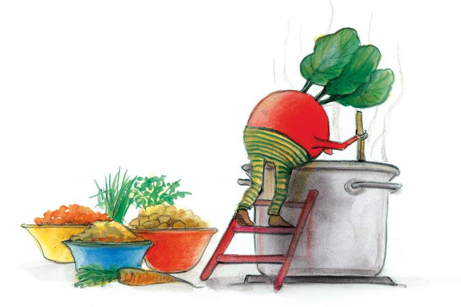 Karottensuppe von Illustratorin Susanne Leontine Schmidt