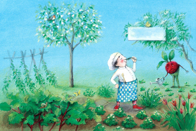 Der kleine Koch im Frühling von Illustratorin Susanne Leontine Schmidt